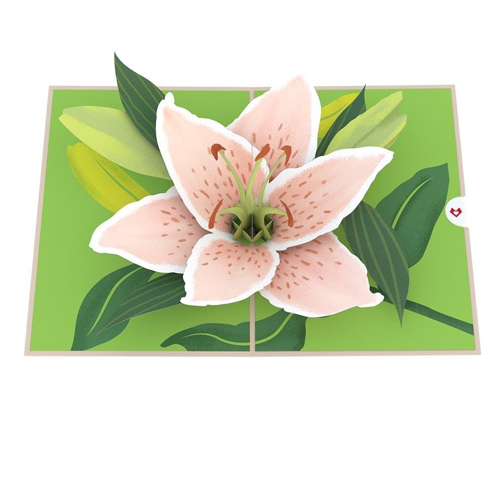 "Lilienblüte ""Muttertag"", Pop-Up Karte"